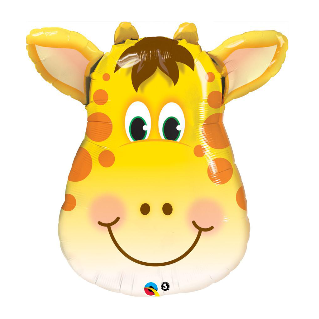 "Jolly Giraffe 32"" Shape from Pop Cloud Bristol who offer a huge range of partyware, wedding and event hire decorations"