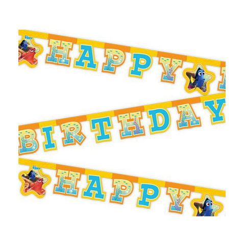 Finding Dory Banner 1ct from Pop Cloud Bristol who offer a huge range of partyware, wedding and event hire decorations