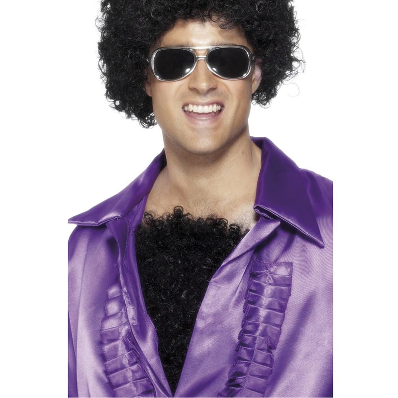 HAIRY CHEST, BLACK, DELUXE from Flingers Party World Bristol Harbourside who offer a huge range of fancy dress costumes and partyware items