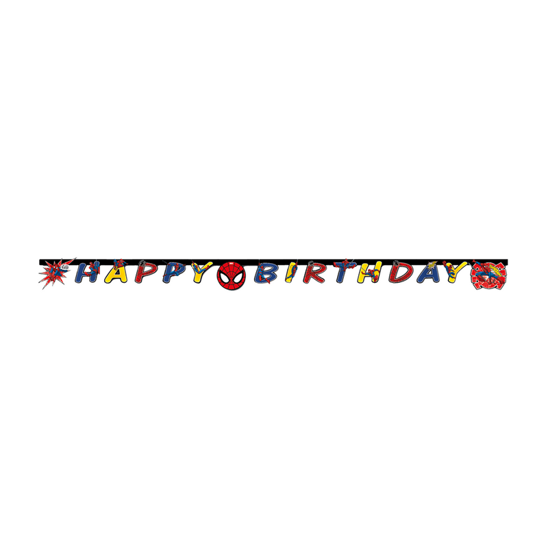 Ultimate Spiderman Banner 1CT- Happy Birthday from Pop Cloud Bristol who offer a huge range of partyware, wedding and event hire decorations