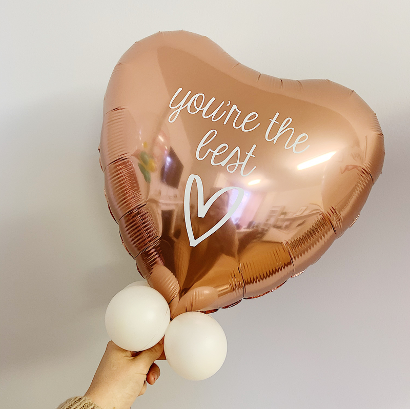"YOU'RE THE BEST PERSONALISED 18"" FOIL BALLOON from Flingers Party World Bristol Harbourside who offer a huge range of fancy dress costumes and partyware items"