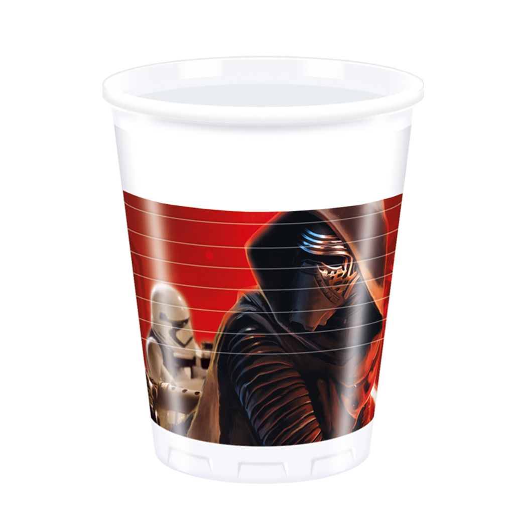 Star Wars The Force Awakens Party Plastic Cups 8CT from Pop Cloud Bristol who offer a huge range of partyware, wedding and event hire decorations