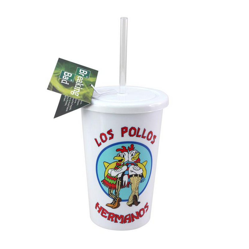 BREAKING BAD LOS POLLOS DRINKS CUP from Flingers Party World Bristol Harbourside who offer a huge range of fancy dress costumes and partyware items