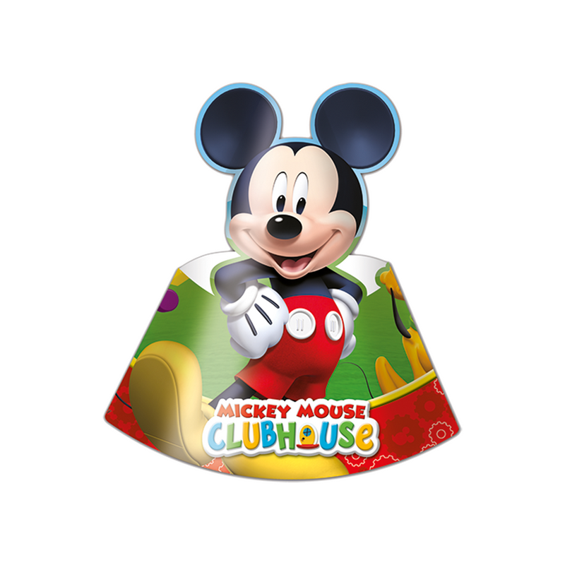 Playful Mickey Party Hats 6CT from Pop Cloud Bristol who offer a huge range of partyware, wedding and event hire decorations