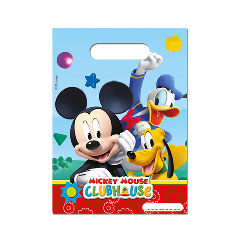 Playful Mickey Party Bags 6CT from Pop Cloud Bristol who offer a huge range of partyware, wedding and event hire decorations
