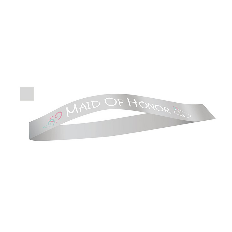 MAID OF HONOR SASH from Flingers Party World Bristol Harbourside who offer a huge range of fancy dress costumes and partyware items