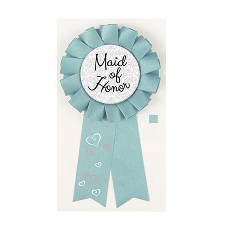 Maid of Honor Award Ribbon from Pop Cloud Bristol who offer a huge range of partyware, wedding and event hire decorations
