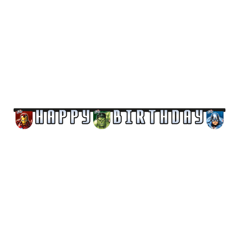Banner 1CT - Happy Birthday Avengers Power from Pop Cloud Bristol who offer a huge range of partyware, wedding and event hire decorations