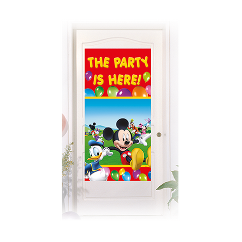 Playful Mickey Door Banner 1CT from Pop Cloud Bristol who offer a huge range of partyware, wedding and event hire decorations