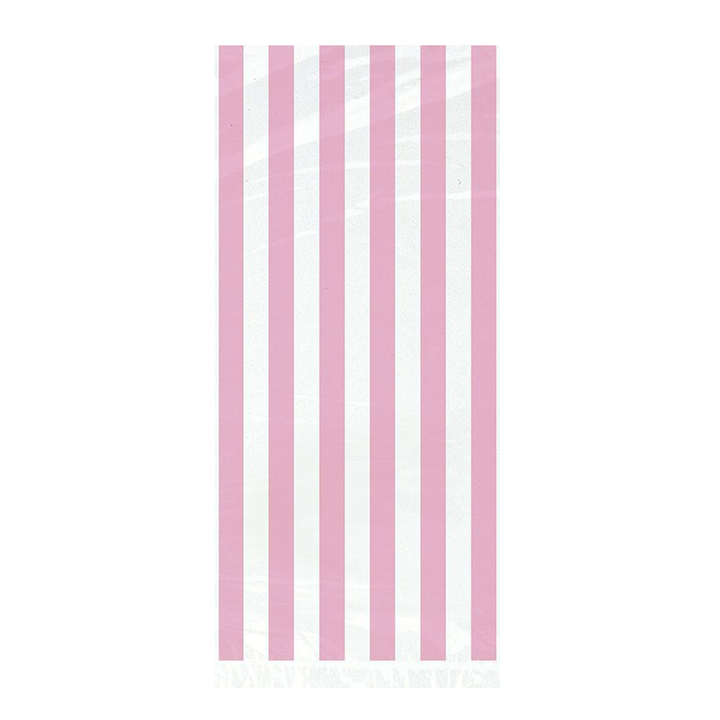 20 LOVELY PINK STRIPE CELO BAGS from Flingers Party World Bristol Harbourside who offer a huge range of fancy dress costumes and partyware items