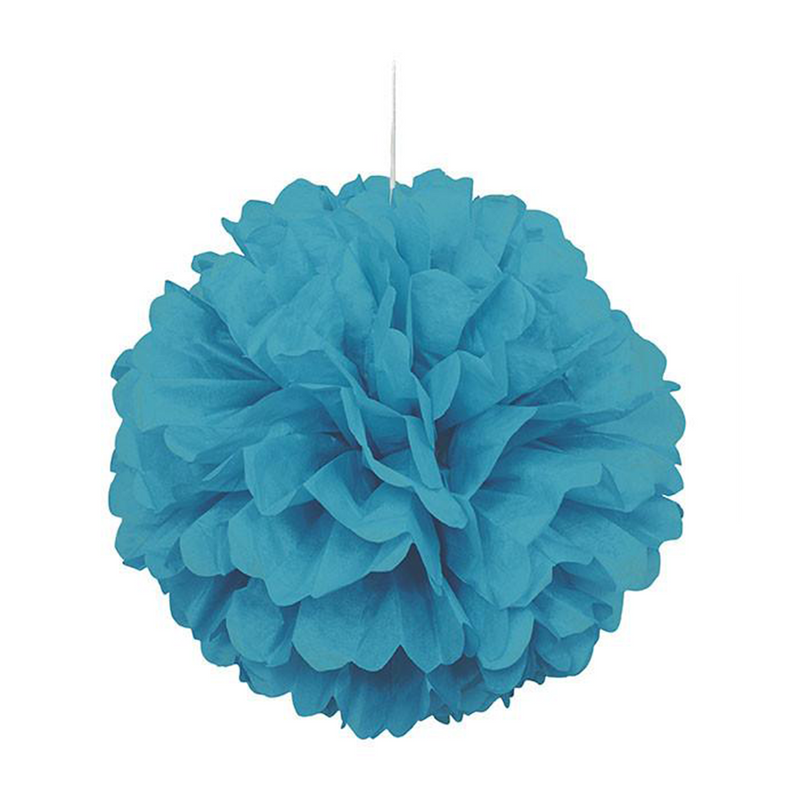 "Puff Decor 16"" CB Teal from Pop Cloud Bristol who offer a huge range of partyware, wedding and event hire decorations"