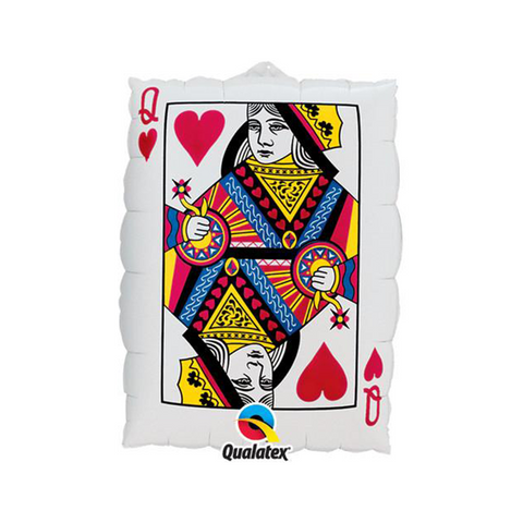 "Queen of Hearts/Ace of Spades 30"" Card from Pop Cloud Bristol who offer a huge range of partyware, wedding and event hire decorations"