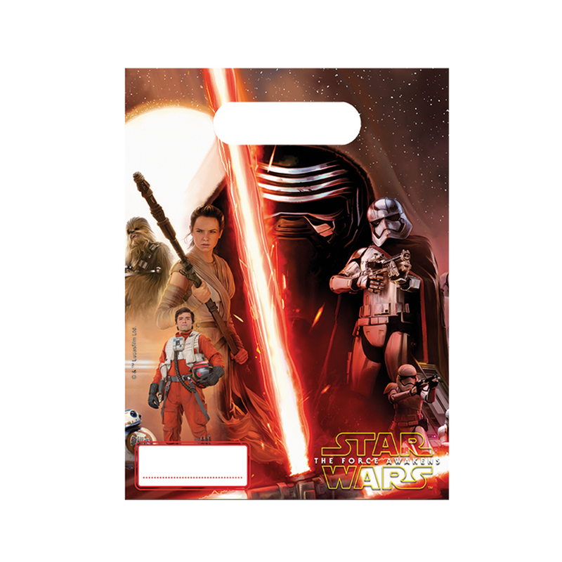 STAR WARS THE FORCE AWAKENS PARTY BAGS from Flingers Party World Bristol Harbourside who offer a huge range of fancy dress costumes and partyware items