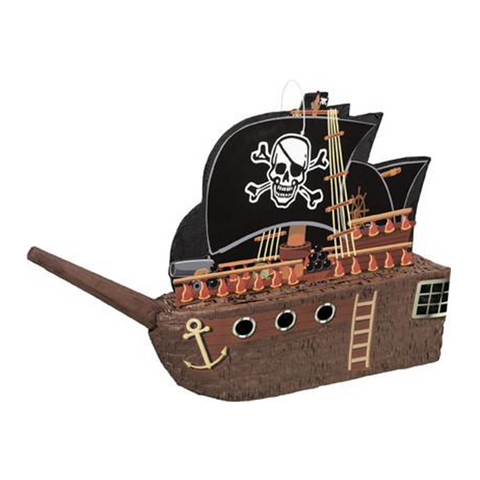 Pirate Ship Piñata from Pop Cloud Bristol who offer a huge range of partyware, wedding and event hire decorations
