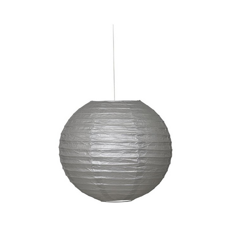 "Lantern Round 10"" Silver from Pop Cloud Bristol who offer a huge range of partyware, wedding and event hire decorations"