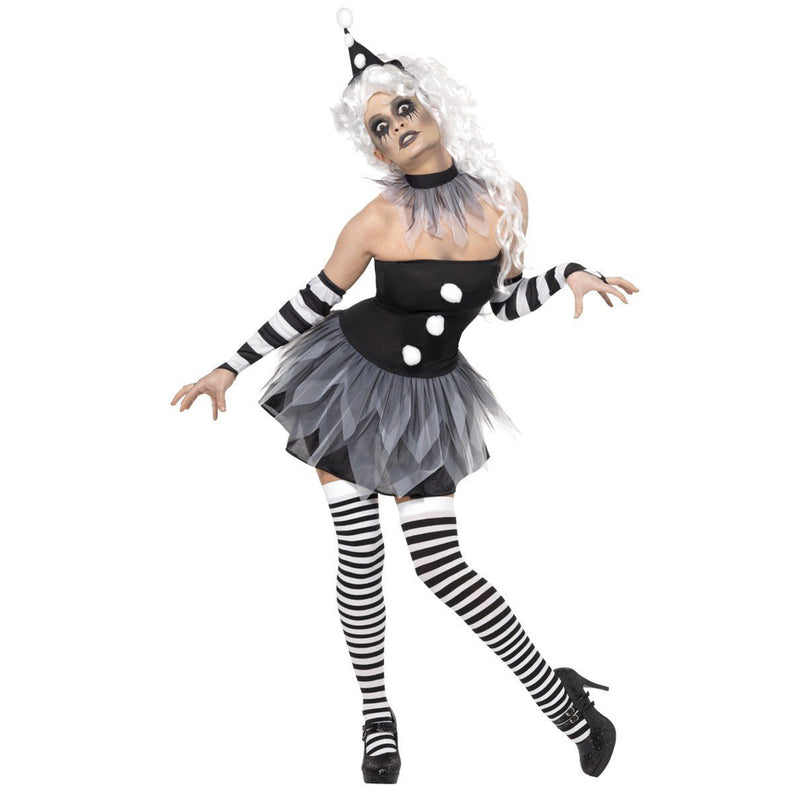 SINISTER PIERROT COSTUME from Flingers Party World Bristol Harbourside who offer a huge range of fancy dress costumes and partyware items