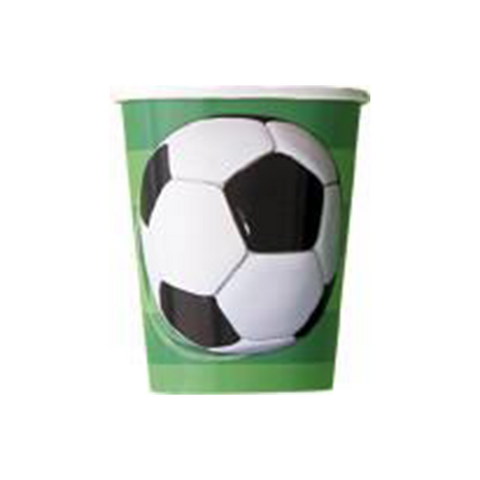 8 3D Soccer Ball 9oz Cups from Pop Cloud Bristol who offer a huge range of partyware, wedding and event hire decorations