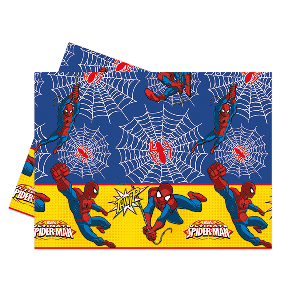 ULTIMATE SPIDERMAN PARTY TABLE COVER from Flingers Party World Bristol Harbourside who offer a huge range of fancy dress costumes and partyware items