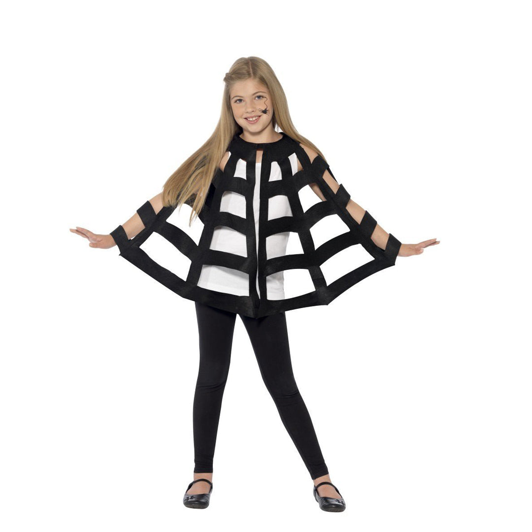 BLACK SPIDER CAPE from Flingers Party World Bristol Harbourside who offer a huge range of fancy dress costumes and partyware items