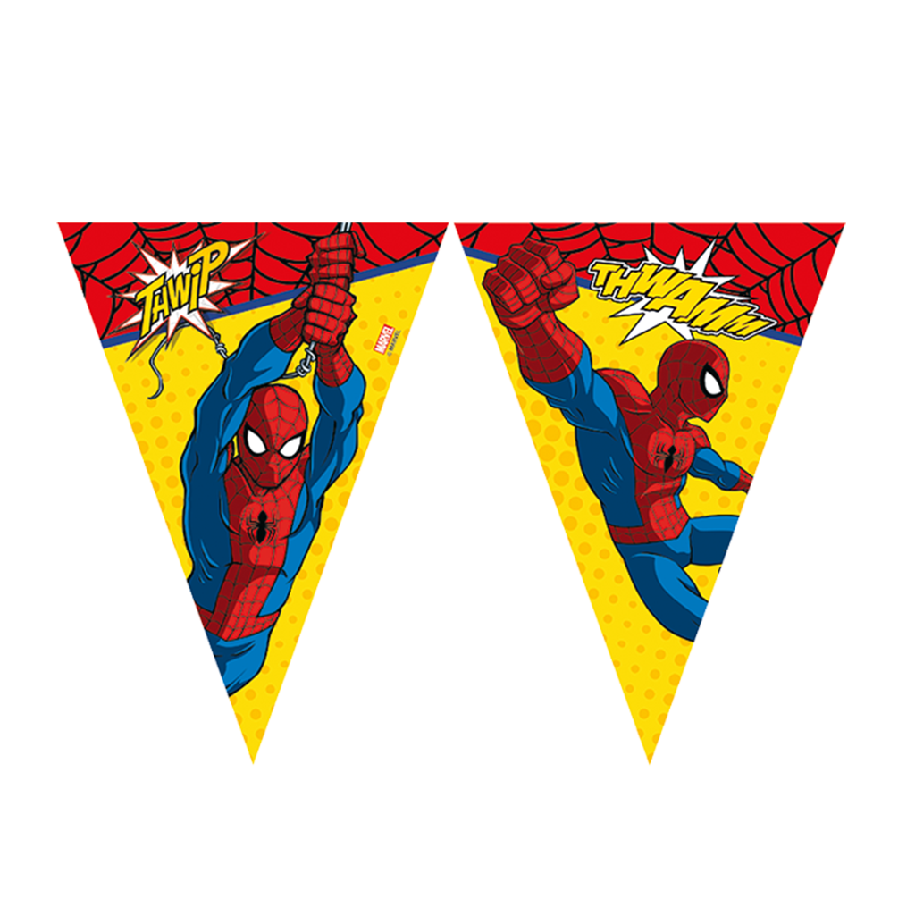 Ultimate Spiderman Banner- Triangle Flag (9) from Pop Cloud Bristol who offer a huge range of partyware, wedding and event hire decorations