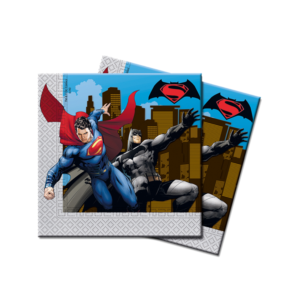 BATMAN VS SUPERMAN PARTY NAPKINS from Flingers Party World Bristol Harbourside who offer a huge range of fancy dress costumes and partyware items
