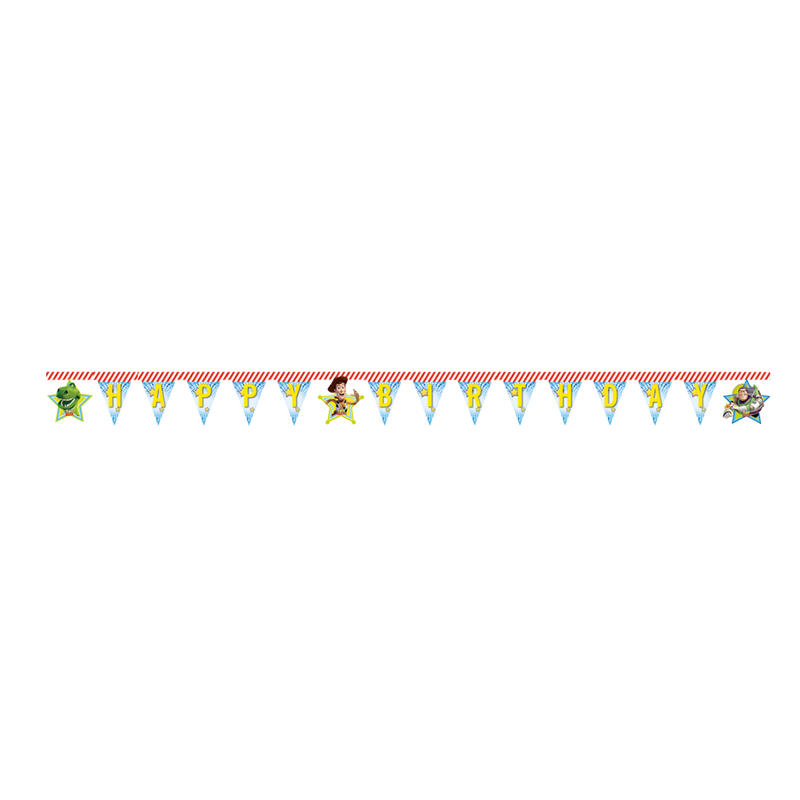 Toy Story Star Power Banner 1CT- Happy Birthday from Pop Cloud Bristol who offer a huge range of partyware, wedding and event hire decorations