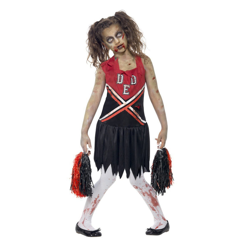CHILD ZOMBIE CHEERLEADER COSTUME from Flingers Party World Bristol Harbourside who offer a huge range of fancy dress costumes and partyware items