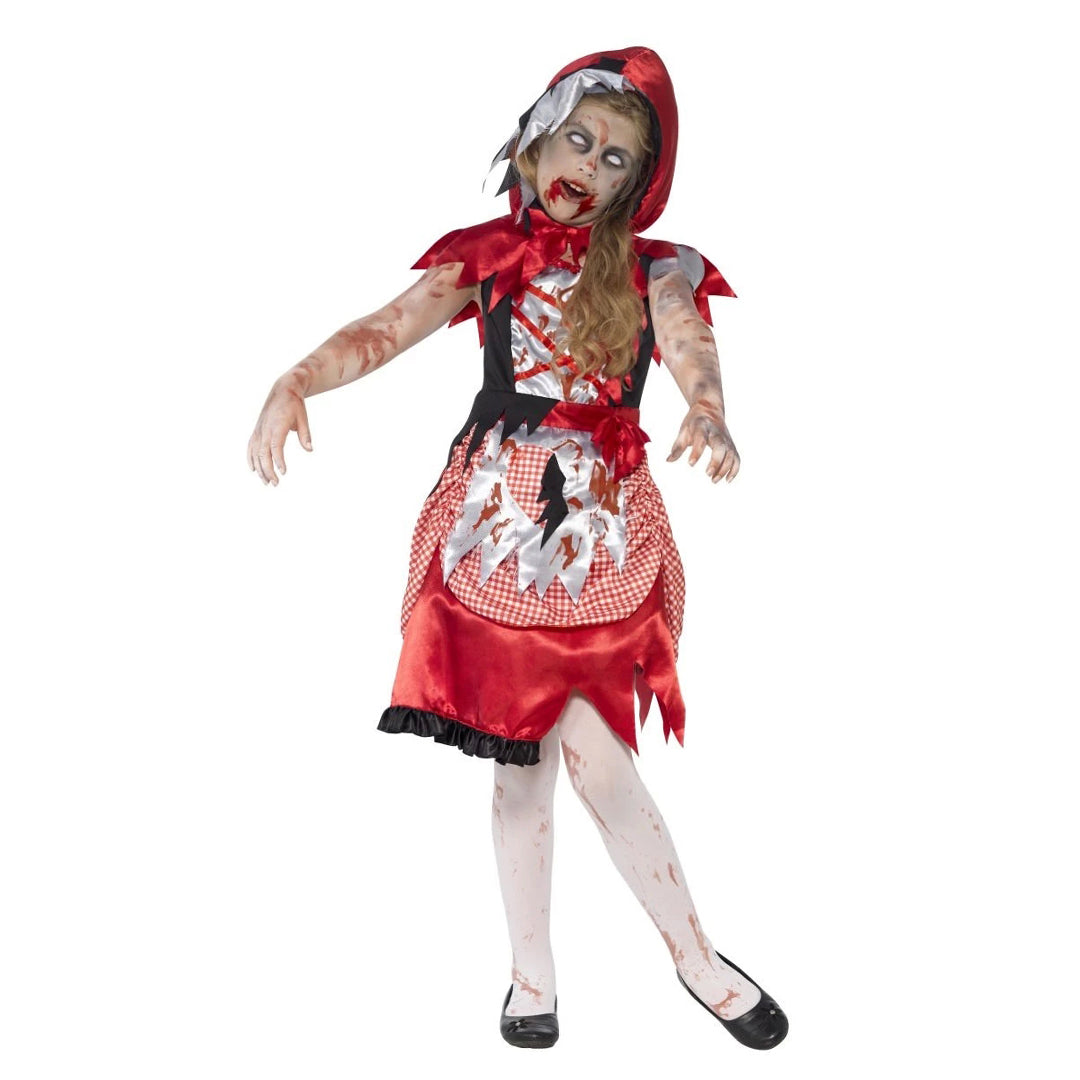 ZOMBIE MISS HOOD COSTUME from Flingers Party World Bristol Harbourside who offer a huge range of fancy dress costumes and partyware items