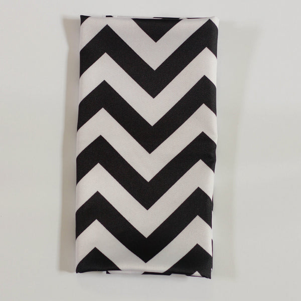 Black Chevron Napkin