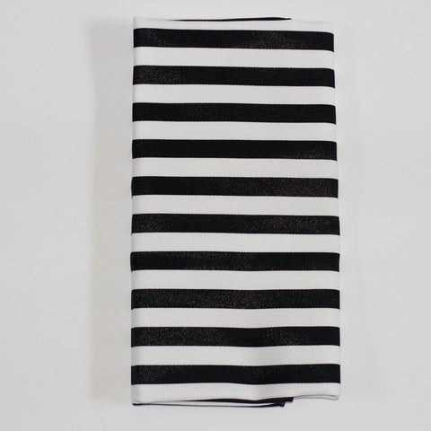Black & White Stripe Napkin