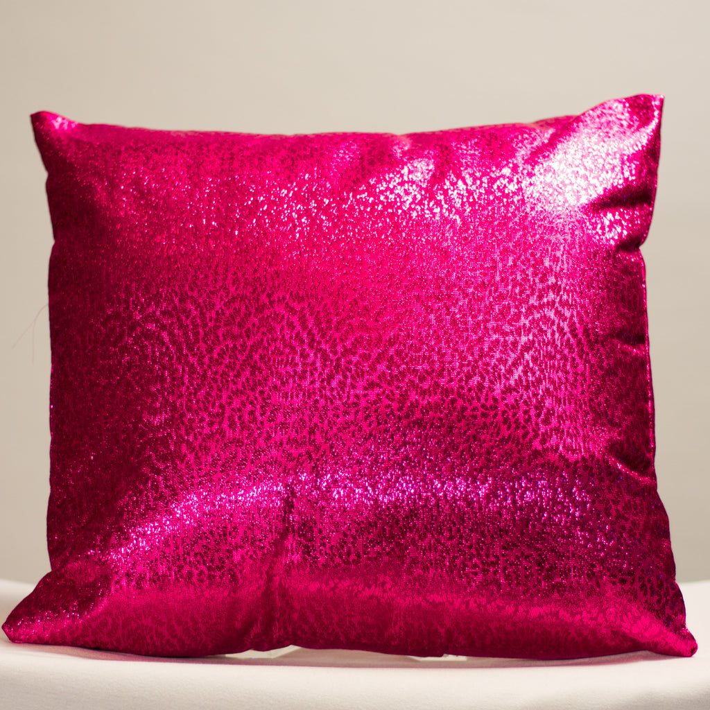 Fuchsia Metallic Pillow