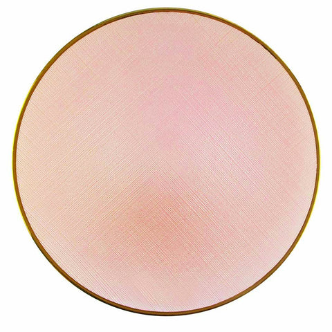 Glass Blush Charger