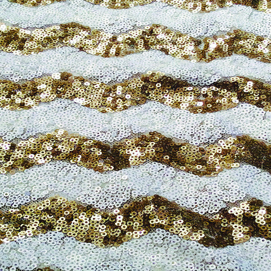 Gold Sequin Chevron
