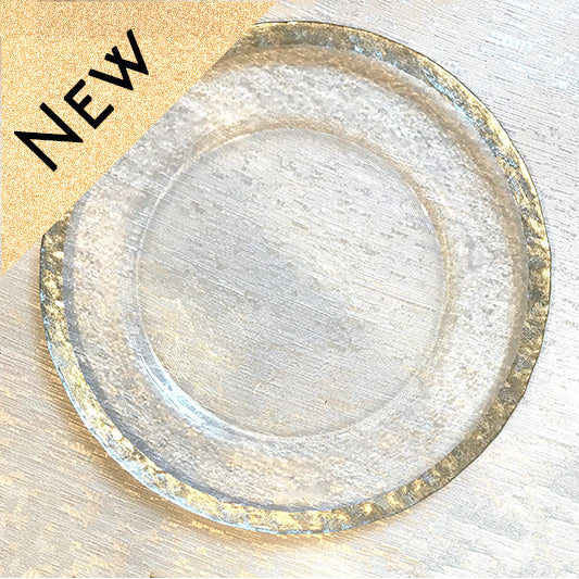 Hammered Silver Glass Charger