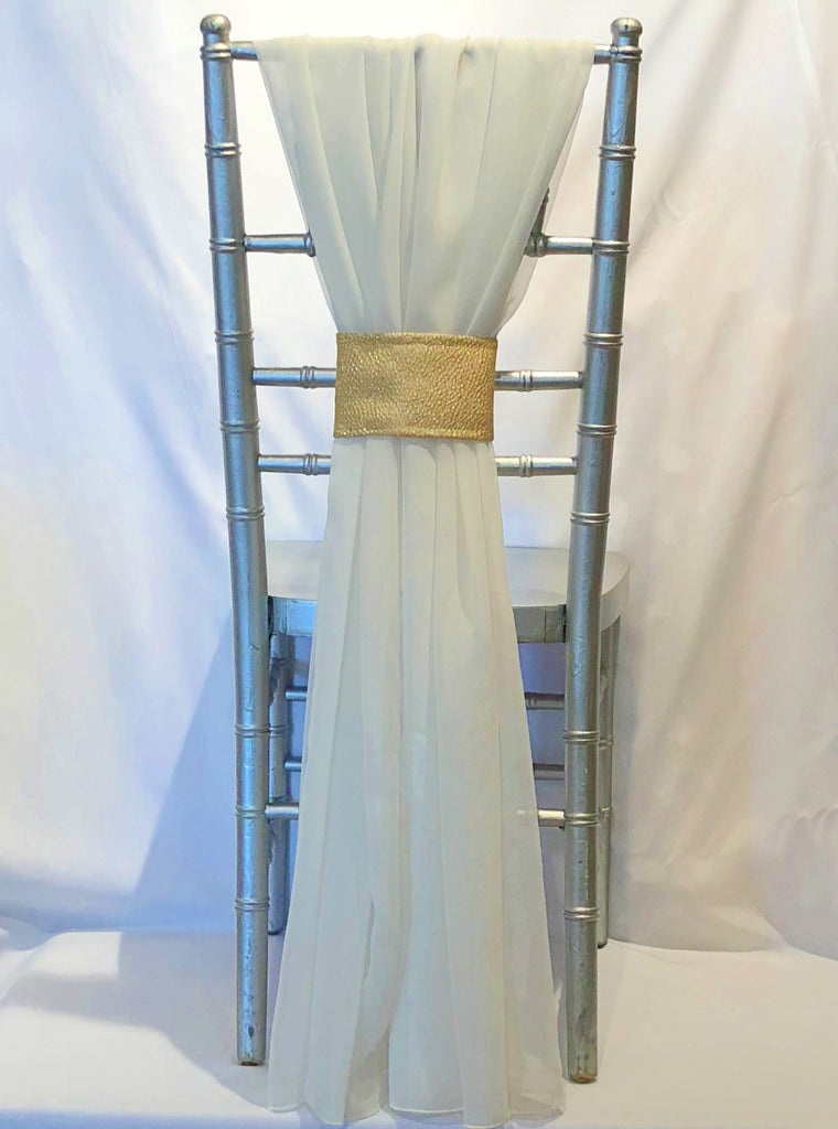 Grecian Drape with Gold Nugget Band
