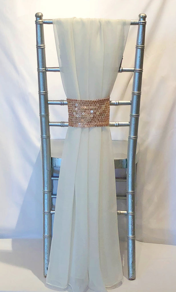 Grecian Drape with Rose Gold Sparkler Band