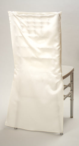 Ivory Satin Chair Back