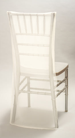 Ivory Sheer Chair Back