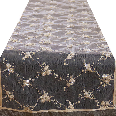 Pearls and Lace Runner