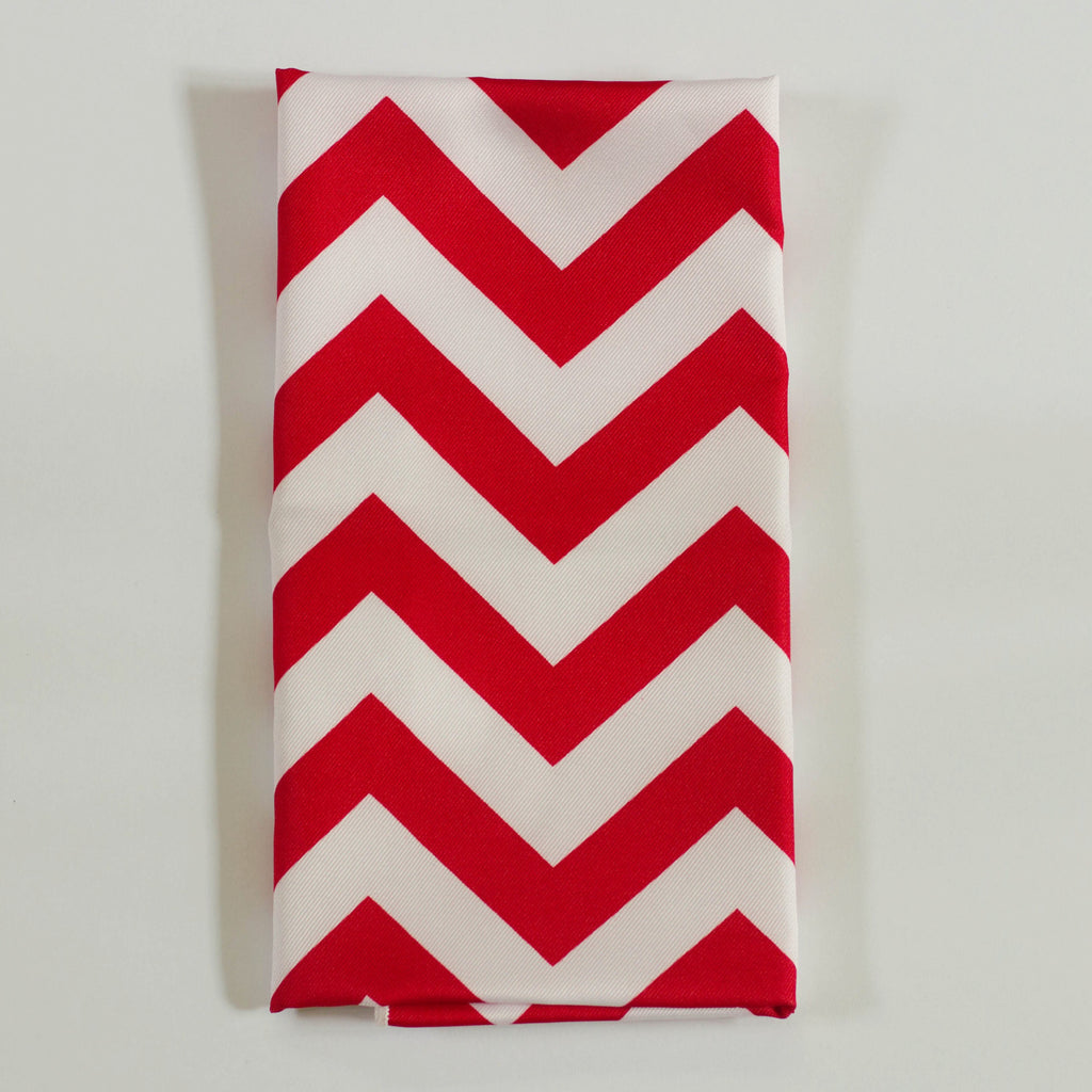 Red Chevron Napkin