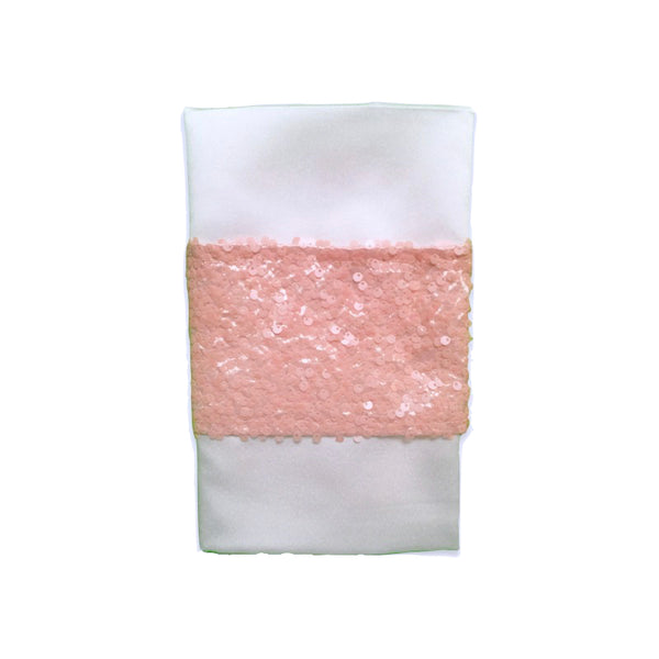 Rosé Bling Napkin Band