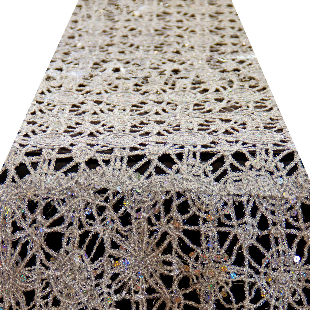 Silver Dream Lace Runner