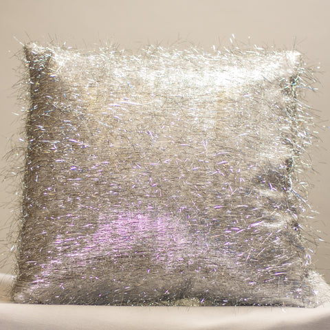 Silver Eyelash Pillow