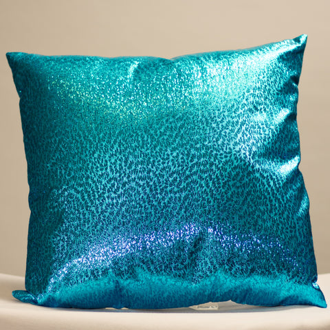 Turquoise Metallic Pillow