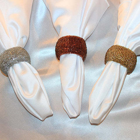 Beaded Barrel Napkin Band