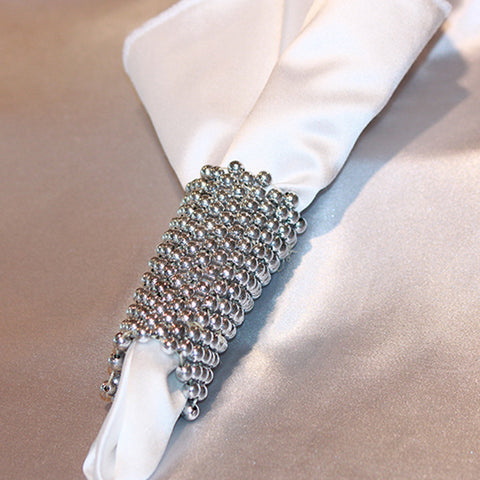 Beaded Mesh Napkin Band