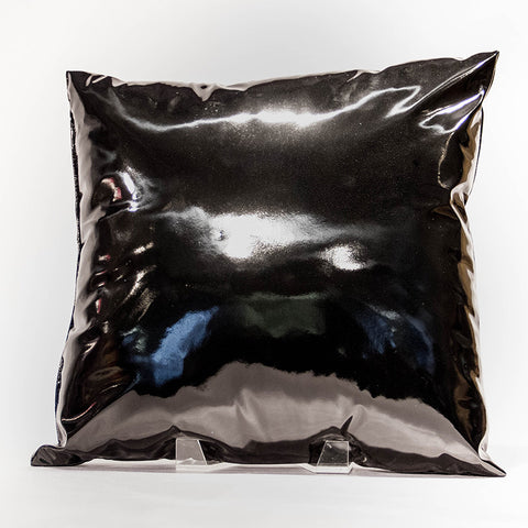 Black Vinyl Pillow