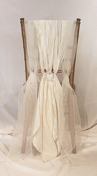 Braided Chiffon with Rhinestone Buckle Chair Sash