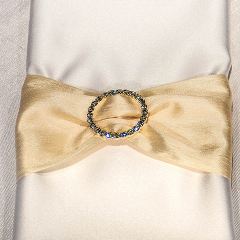 Duponi Napkin Band with Rhinestone Buckle
