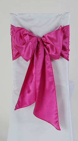 Fuchsia Satin Chair Sash